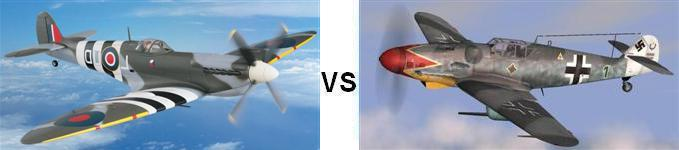Spitfire vs Bf 109 (The Longest Dogfight Ever) - YouTube